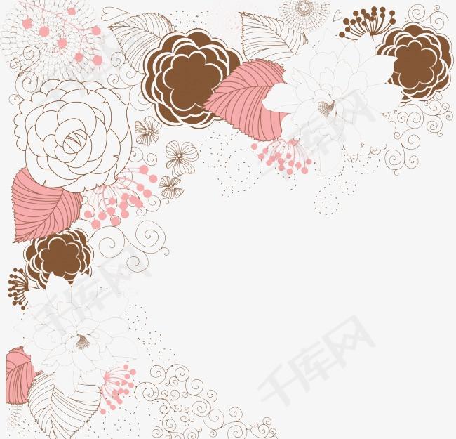 手绘花纹设计素材图片免费下载 高清装饰图案png 千库网 图片编号2417647图片