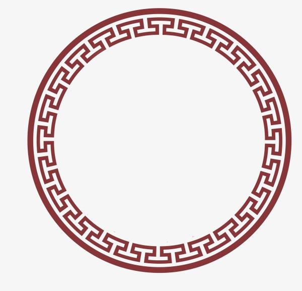中国风古典圆边框