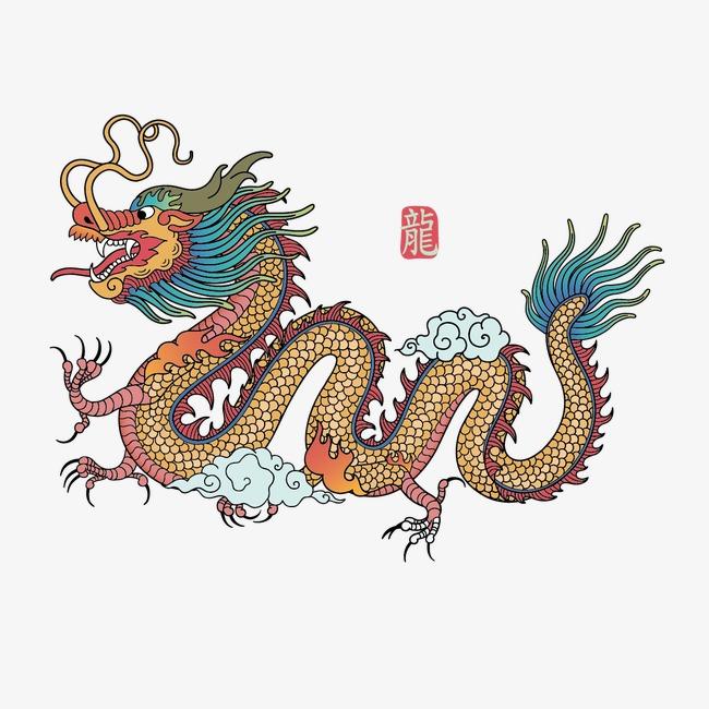 中国龙绘画图片