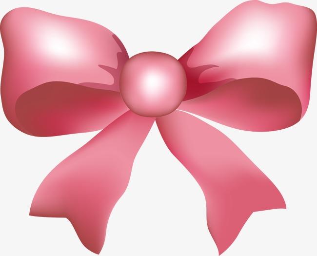 手绘粉色蝴蝶结图案