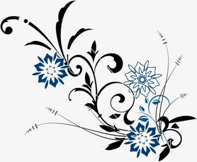 手绘花朵花藤图案