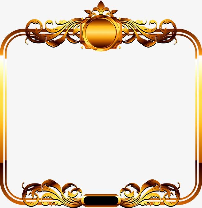 金色相册边框素材