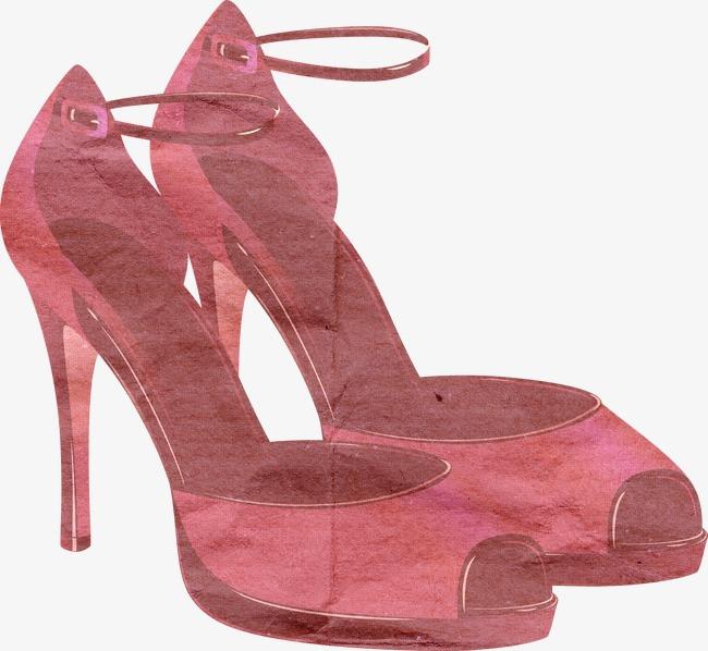 欧美风剪纸 唯美 欧式 欧洲风格高跟鞋             此素材是90设计