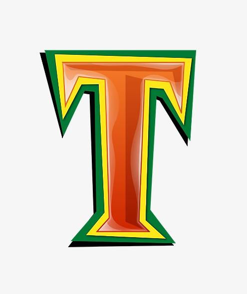 红绿立体字母tpng素材-90设计图片