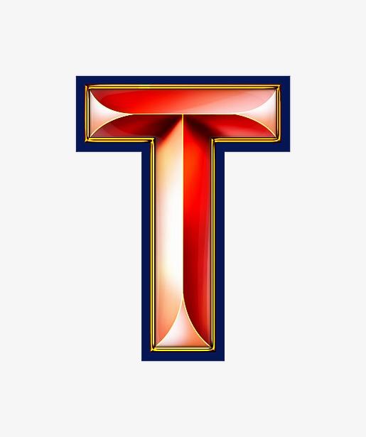 红色立体字母tpng素材-90设计图片