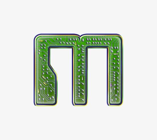 电路板字母m
