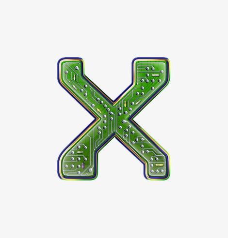 电路板字母x