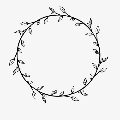 花环花边手绘边框素材