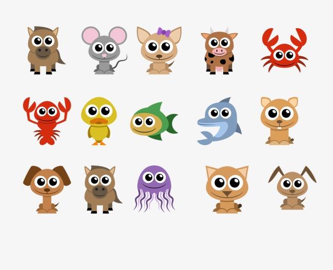卡通小动物图标【高清装饰元素png素材】-90设计
