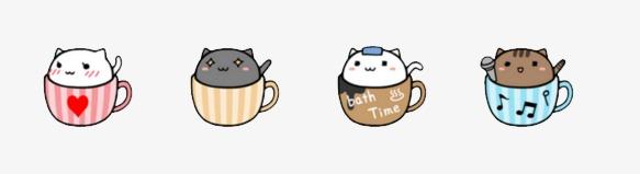 咖啡猫 可爱 表情包图片