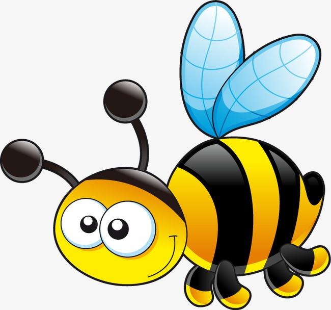 手绘卡通蜜蜂图案