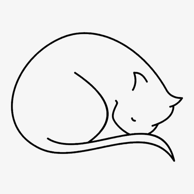 黑白动物线描