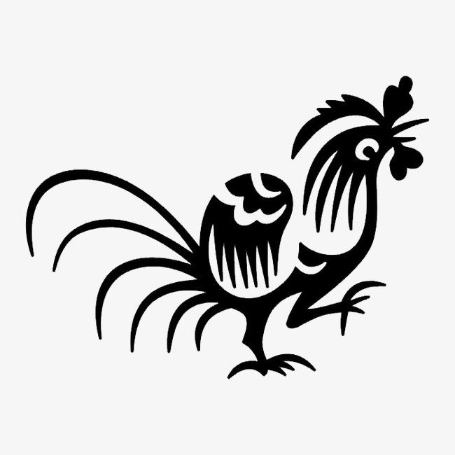 黑白动物轮廓