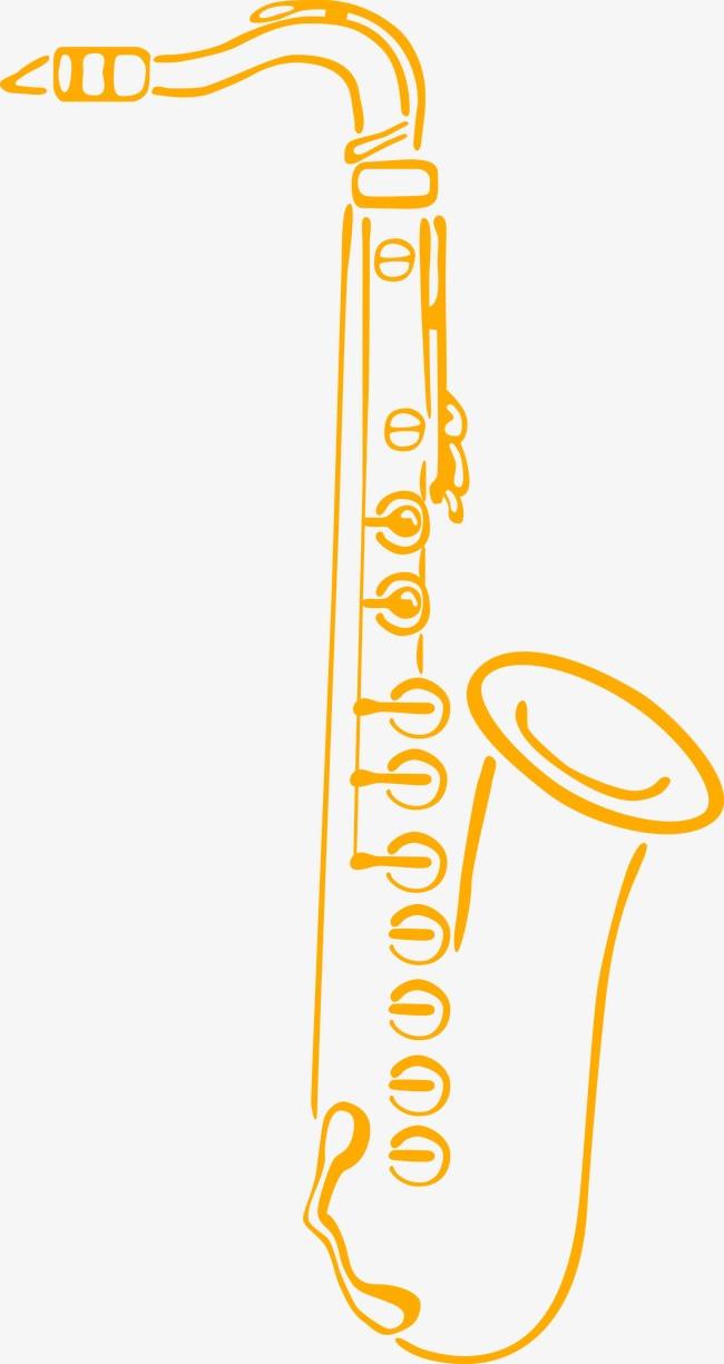 手绘 萨克斯 音乐 乐器             此素材是90设计网官方设计出品