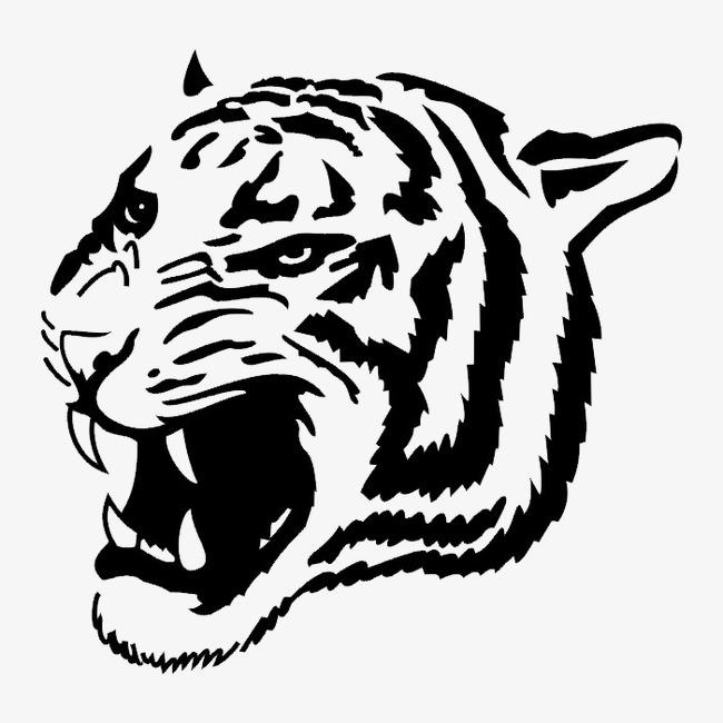 图片 装饰元素 > 【png】 黑白图案动物