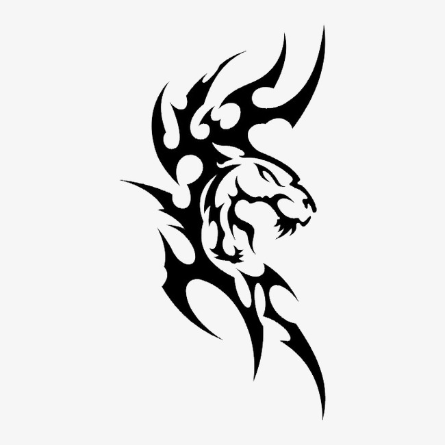 背景图案_黑白图案动物png素材-90设计