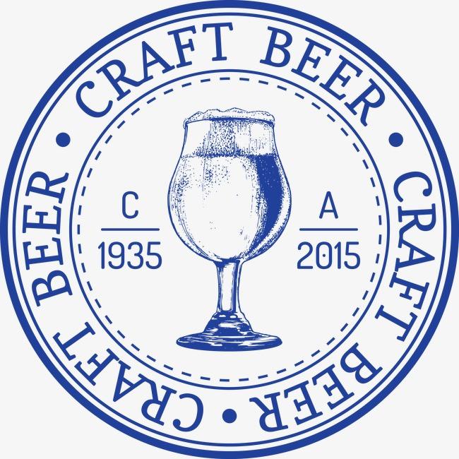 英伦复古范素描啤酒杯标贴图片