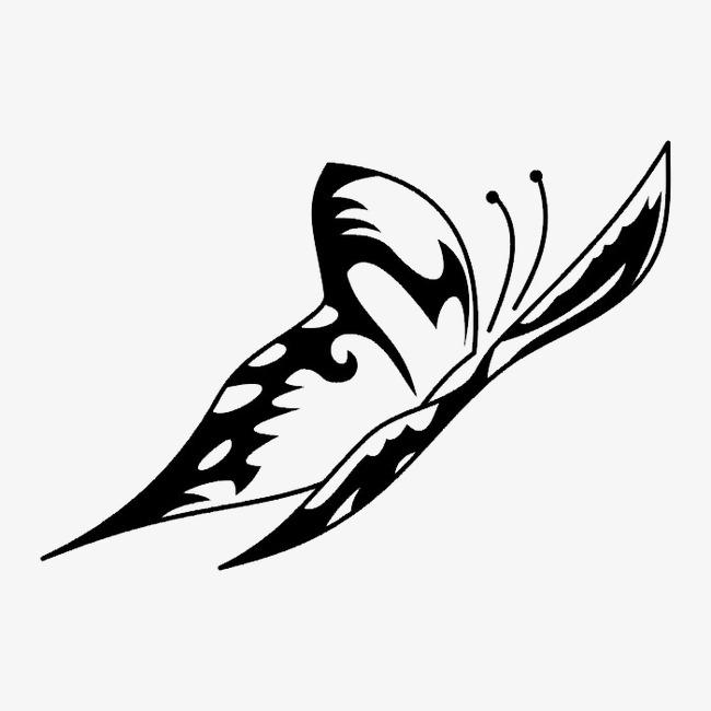 黑白轮廓动物图案 素材库