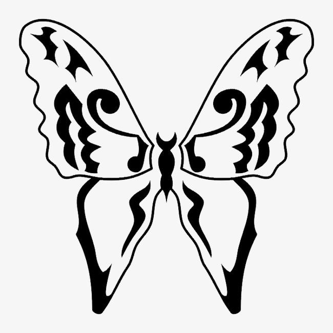 黑白轮廓动物图案png素材-90设计