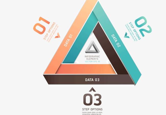 创意三角形分类栏png素材-90设计