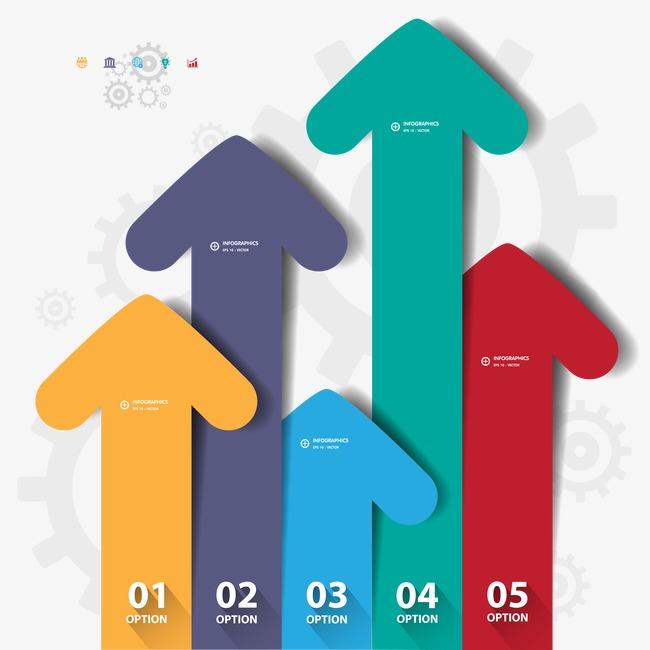 ppt立体商业图表分类标签时尚序列步骤商务统计比例