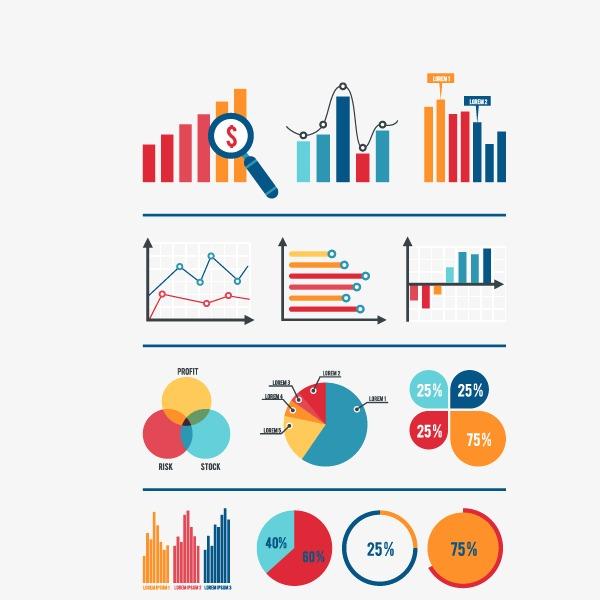 扁平化数据信息ppt元素