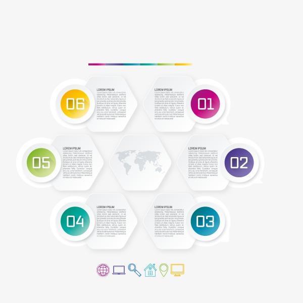 展示ppt元素装饰矢量图彩色彩色铅笔彩色背景彩色条纹彩色字七彩色