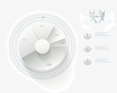 设计元素 科技素材 信息图表 > 白色圆环ppt元素