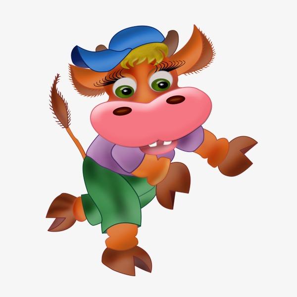 卡通 可爱 跳舞 小牛             此素材是90设计网官方设计出品,均图片