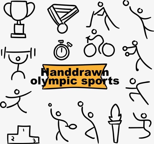 巴西里约奥运会手绘运动项目