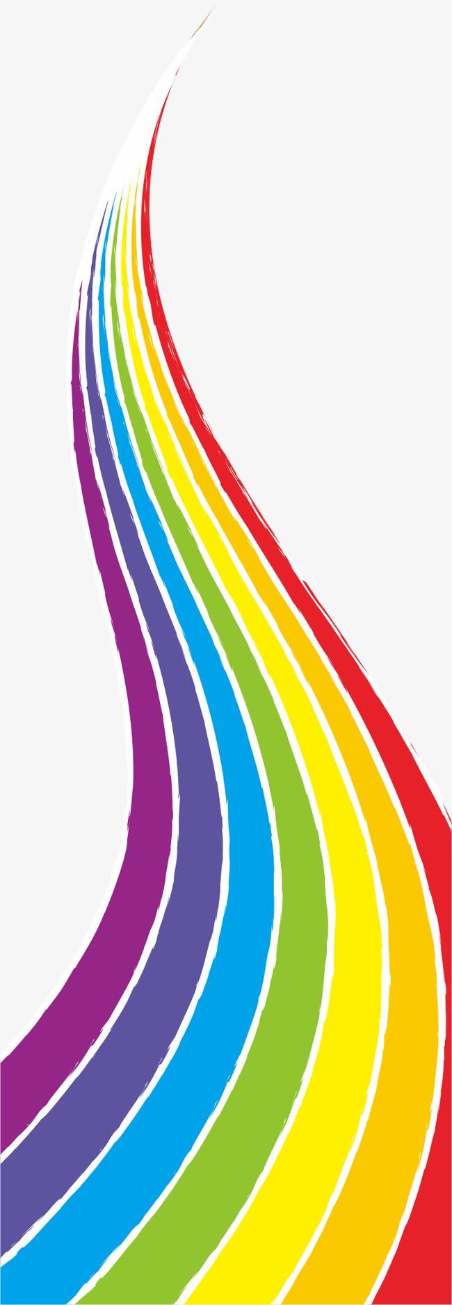 手绘彩虹【高清装饰元素png素材】-90设计