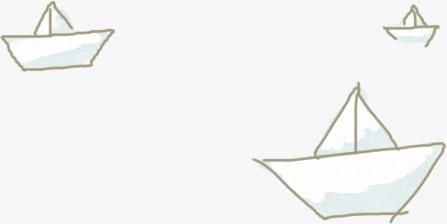 可爱手绘卡通小纸船