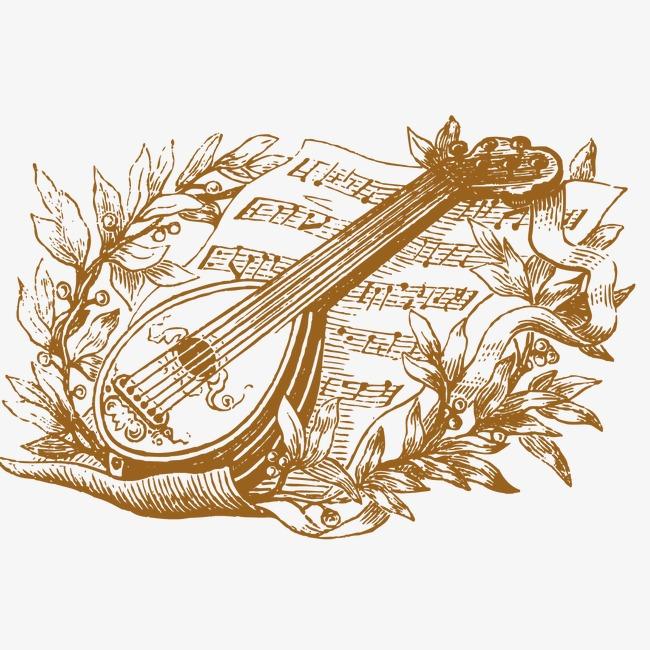 琵琶 乐谱 音乐             此素材是90设计网官方设计出品,均做