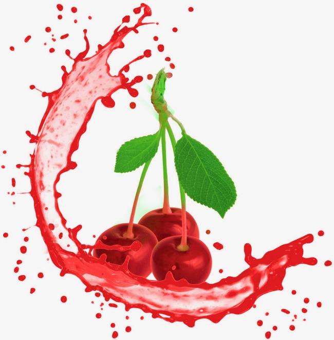 创意手绘美味樱桃