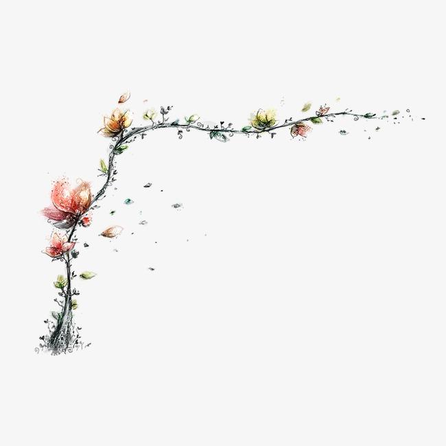 手绘精美藤蔓