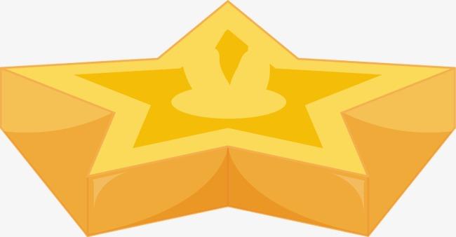 手绘黄色五角星图案