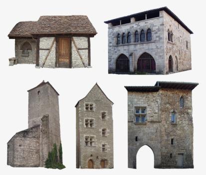 石头房子 欧式 复古 建筑             此素材是90设计网官方设计