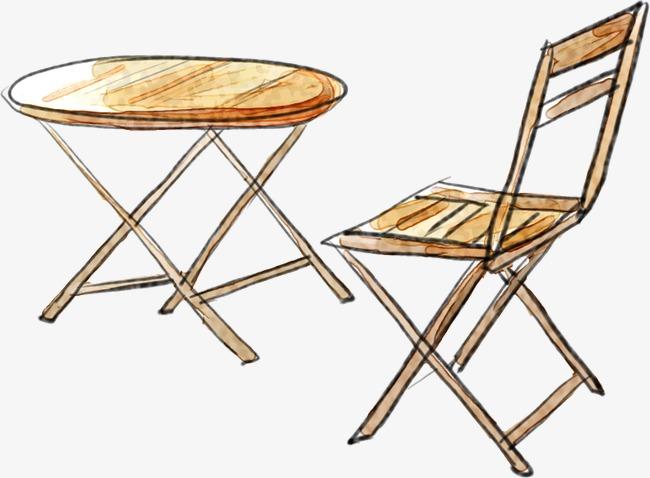 手绘桌椅家具