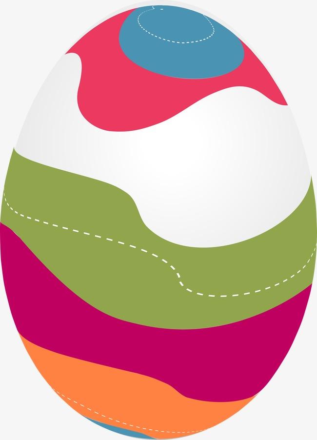 美丽花纹彩蛋矢量图