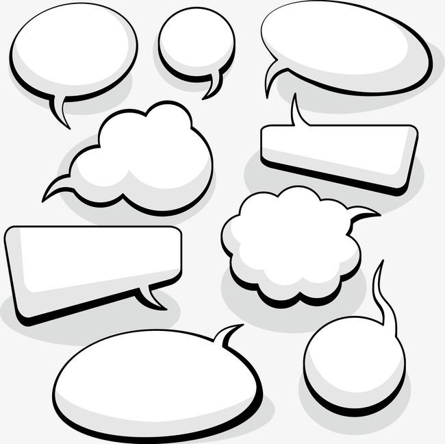 气泡背景_气泡对话框png素材-90设计