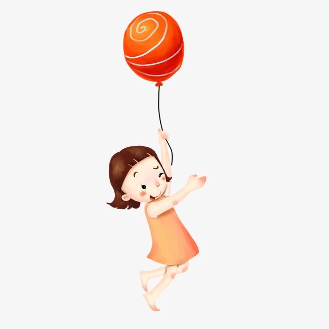拿气球的小女孩