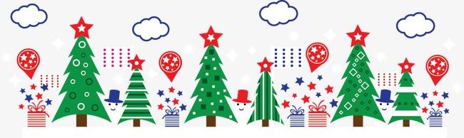 卡通圣诞树