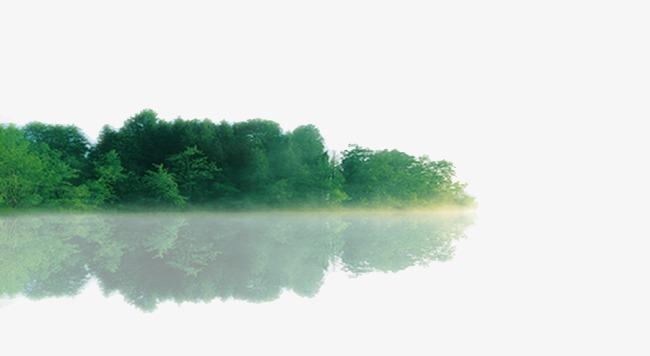 树丛倒影【高清装饰元素png素材】-90设计图片