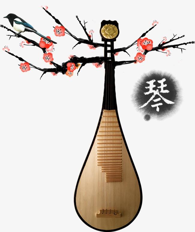 琴 琵琶 中国乐器中国元素中国风 乐器             此素材是90设计
