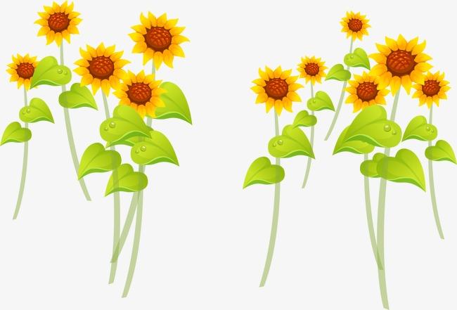 卡通手绘黄色向日葵