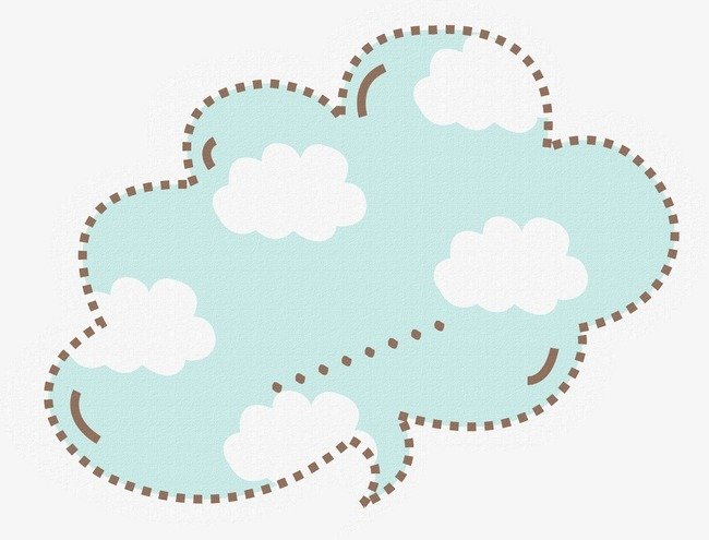 可爱云朵对话框留言板