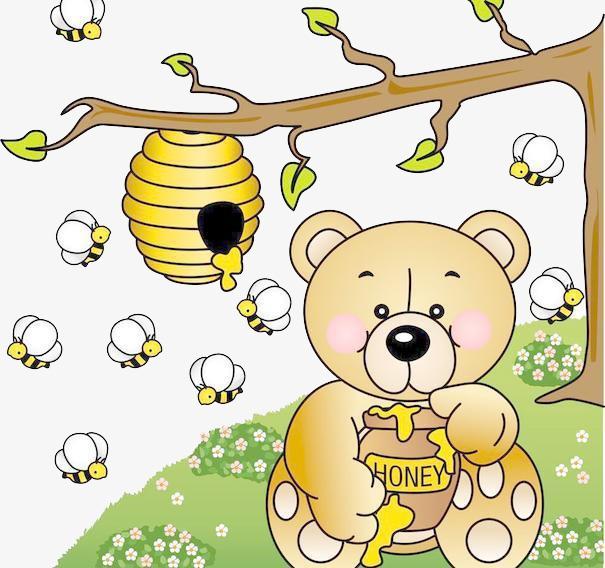 手绘卡通蜂蜜任务