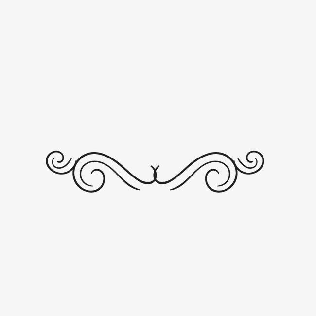 欧式简约分割线【高清边框纹理png素材】-90设计