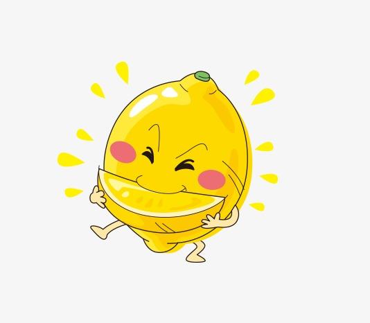 手绘卡通柠檬