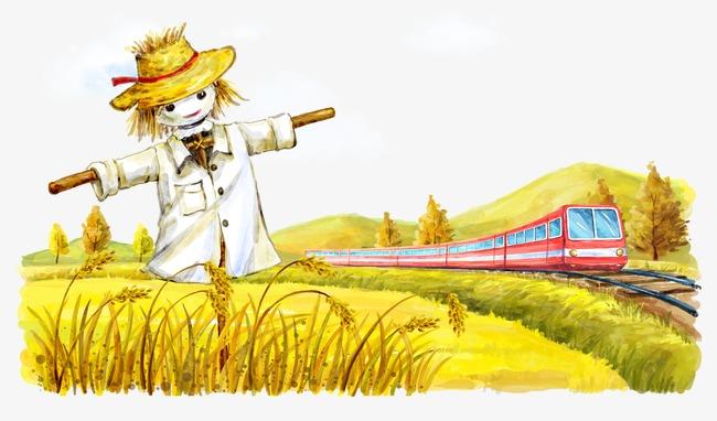 麦田里的稻草人